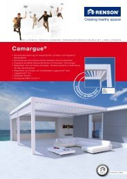 Camargue® Terrassenüberdachung Renson PDF-Prospekt