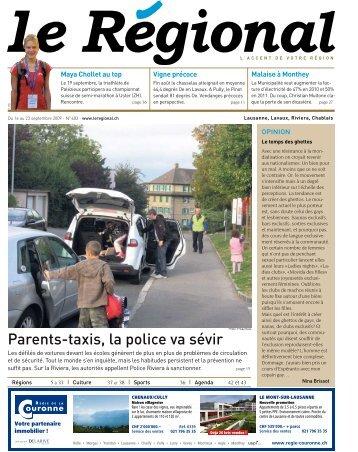 Parents-taxis, la police va sévir