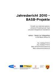 Jahresbericht 2010 – BASB-Projekte - vamos