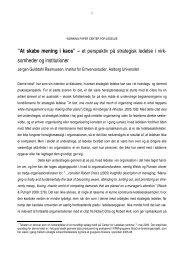 """At skabe mening i kaos"""" – et perspektiv på strategisk ledelse i virk ..."""
