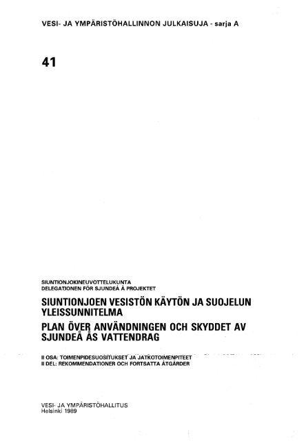 Vesi- ja ympäristöhallinnon julkaisuja A 41 II.pdf - Helda