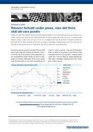 Råvaror fortsatt under press, men det finns skäl att ... - Handelsbanken