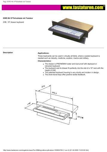 Page: KWE-96-19''Schublade mit Tastatur