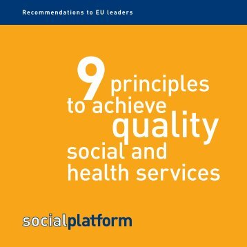 9 principles to achieve quality social and health services - Horus