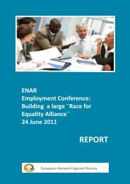 Report of the Employment conference: Building a large - Horus