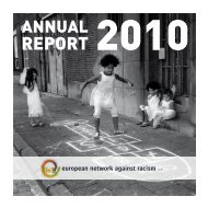 european network against racism aisbl - Horus