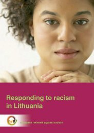 Responding to racism in Lithuania - Horus