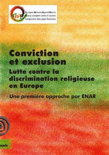 Conviction et exclusion. Lutte contre la discrimination ... - Horus