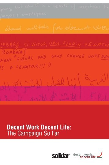 Decent Work Decent Life: The Campaign So Far - World Day for ...