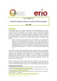 Political Participation of Roma, Traveller and Sinti communities - Horus