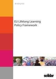 EU Lifelong Learning Policy Framework - Horus