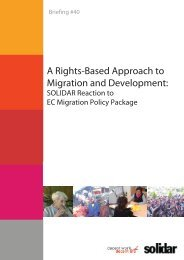 A Rights-Based Approach to Migration and Development: - Solidar