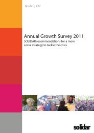Annual Growth Survey 2011 ? SOLIDAR Recommendations