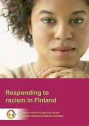 Responding to racism in Finland - Horus
