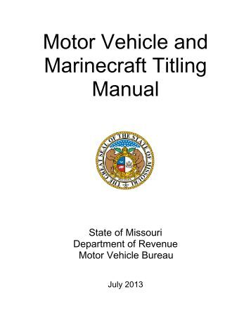 Dor 108 application for missouri title and license for Motor vehicle department registration
