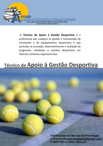 Curso Técnico de Apoio á Gestão Desportiva - Moodle da ESJCP