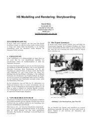 HS Modelling und Rendering: Storyboarding - Universität Ulm