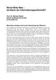 World Wide Web – die Basis der ... - Universität Ulm