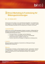 ))Direct Marketing & Fundraising für Bildungseinrichtungen