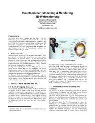 3D-Wahrnehmung - Universität Ulm