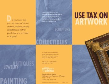Use Tax on Artwork - Washington State Department of Revenue