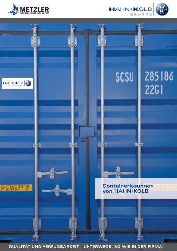 Containerlösungen von HAHN+KOLB