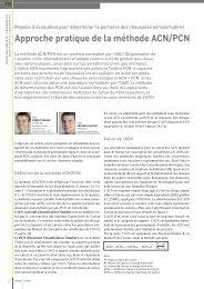 approche pratique de la méthode acn/Pcn - Infralab SA