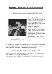 Fraktale : Julia- und Mandelbrotmengen