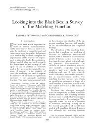 Looking into the Black Box: A Survey of the Matching Function - LSE