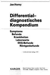 Jan Horny Differential- diagnostisches Kompendium Symptome ...