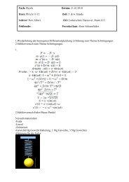 1.Wiederholung der homogenen Differentialgleichung 2.Ordnung ...