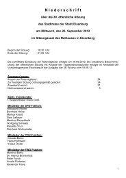 Niederschrift über den öffentlichen Teil der Sitzung des Stadtrates ...