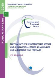 The Transport Infrastructure Sector and Innovation - International ...