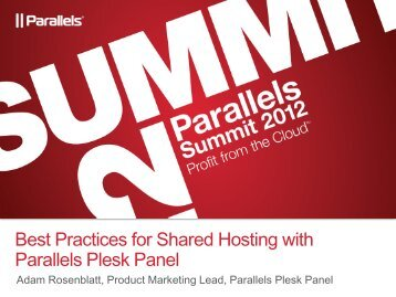 Best Practices for Shared Hosting with Parallels Plesk Panel