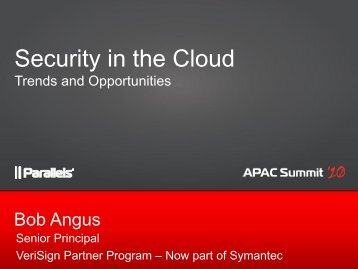 [PDF] day1 session6 bob angus - Parallels