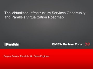 The Virtualized Infrastructure Services Opportunity and Parallels ...