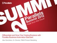 Differentiate and Grow Your Hosting Business with Parallels ...
