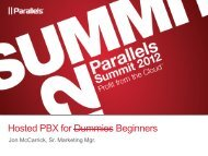 Hosted PBX for Dummies Beginners - Parallels