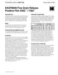 EASTMAN Fine Grain Release Positive Film 5302™ / 7302™ - 125px