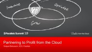 Partnering to Profit from the Cloud - Parallels