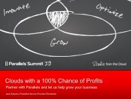 Clouds with a 100% Chance of Profits - Parallels