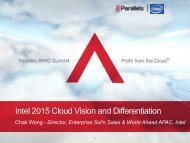 Intel 2015 Cloud Vision and Differentiation - Parallels