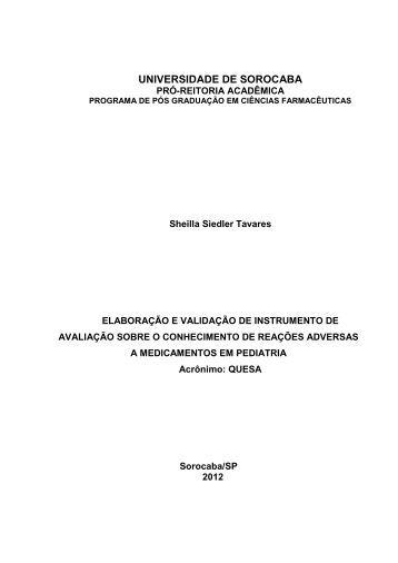 elaboração e validação de instrumento de avaliação sobre o ...