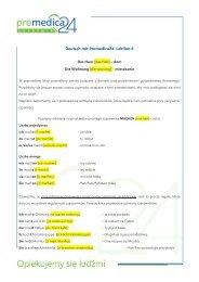 Deutsch mit Promedica24. Lektion 6