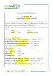 Deutsch mit Promedica24. Lektion 5