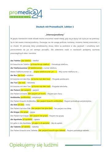 Lekcja 1. Internacjonalizmy - Promedica24
