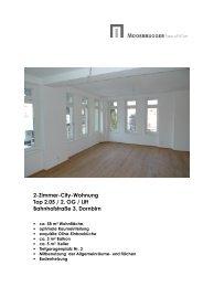 2-Zimmer-City-Wohnung Top 2.05 / 2. OG / Lift Bahnhofstraße 3 ...