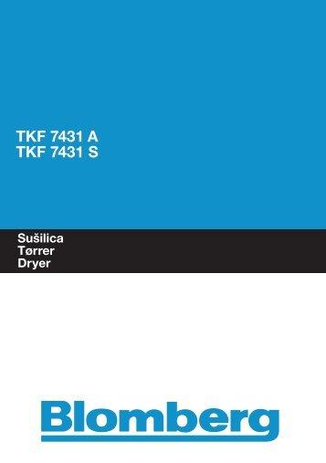 TKF 7431 A TKF 7431 S - Blomberg