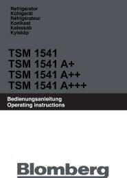 TSM 1541 TSM 1541 A+ TSM 1541 A++ TSM 1541 A+++ - Blomberg