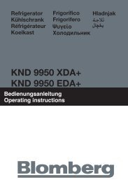 KND 9950 EDA+ KND 9950 XDA+ - Blomberg